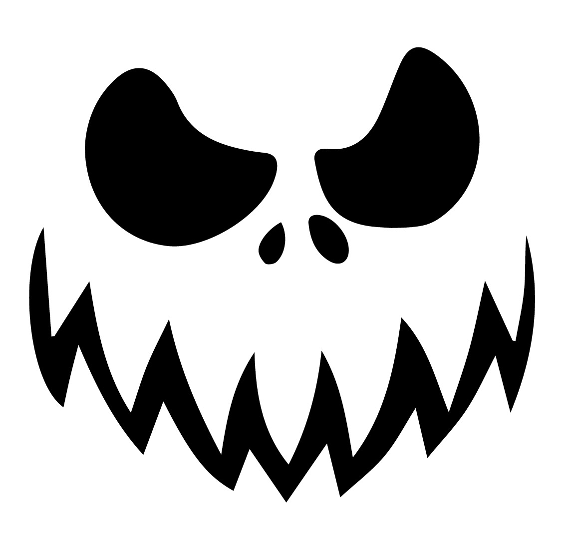 evil pumpkin face template - old fashioned scary face template picture collection